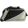 Brunswick Tour Staff Double Tote Bowling Bag- Silver/Black