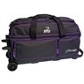 BSI Prestige 3 Ball Roller Bowling Bag- Black/Purple