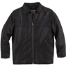 Ash City Mens Leather Insulated Mid-Length Jacket