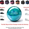 Brunswick T-Zone Caribbean Blue Bowling Ball, KR Strikeforce Shoe and Moxy Bag Package