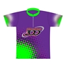 Columbia 300 Bowling Dye-Sublimated Jersey- Purple/Green/Black