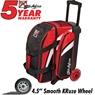 KR Cruiser Smooth Double Roller Bowling Bag- Red/White/Black