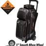 Hammer Premium 3 Ball Roller Bowling Bag- Black/Carbon