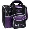 Moxy Deluxe Single Bowling Bag- Purple/Black