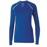 Holloway Girls Solid Long Sleeve Volleyball Jersey