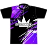 Brunswick Bowling Purple/Black Grunge Dye-Sublimated Jersey