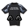 Bowling Themed Sleeve Black T-Shirt- Choose Your Bowling Design