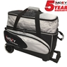 Moxy Blade Premium Double Roller Bowling Bag- Silver/Black