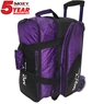 Moxy Blade Premium Double Roller Bowling Bag- Purple/Black
