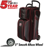 KR Lane Rover 3 Ball Bowling Bag- Grey/Black/Red
