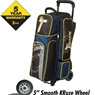 Track Premium Triple Roller Bowling Bag- Black/Navy/Yellow