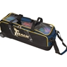 Track Premium Slim Triple Roller Bowling Bag- Black/Navy/Yellow