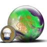 Roto Grip All Out Show Off Bowling Ball- Purple/Neon Green/White