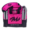 Motiv Shock Single Deluxe Tote Bowling Bag- Hot Pink