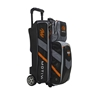 Motiv Vault 3 Ball Roller Bowling Bag- Black/Orange