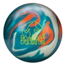 Radical Squatch Hybrid Bowling Ball - Teal/Platium/Orange
