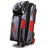 Radical Triple Roller Bowling Bag Dye Sublimated - Black/Red
