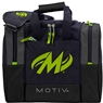 Motiv Shock Single Deluxe Tote Bowling Bag- Grey/Lime