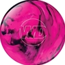 White Dot Pink/Black Bowling Ball