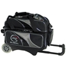 900 Global Deluxe 2 Ball Roller Bowling Bag- Black/Silver