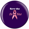 Breast Cancer Awareness Bowling Ball- Save the Tatas