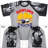 Bowling Chicks T-Shirt with Bowling Sleeve Design