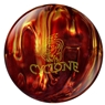 Ebonite Cyclone Fireball Bowling Ball- Red/Gold