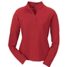 Ash City Ladies Long Sleeve Polyester Pinstripe Half Zip Mock Neck Shirt