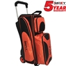 Moxy Deluxe Triple Roller Bowling Bag- Orange/Black