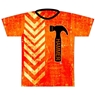 Hammer Bowling Orange Dye-Sublimated Jersey