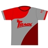 Track Bowling Red/Gray Dye-Sublimated Jersey