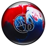 White Dot Bowling Ball- Patriot Sparkle
