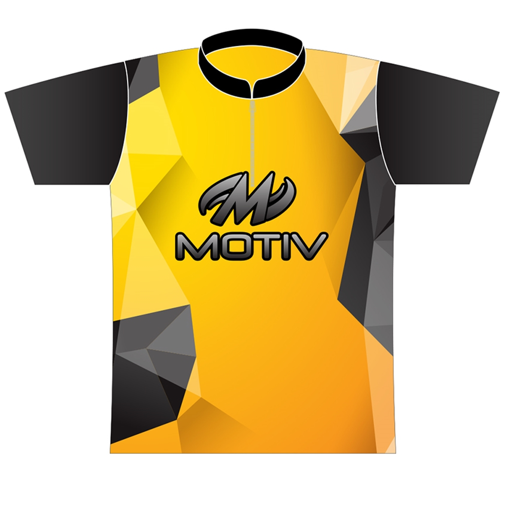 d0f519e8d Motiv Bowling Yellow Polygon Dye-Sublimated Jersey