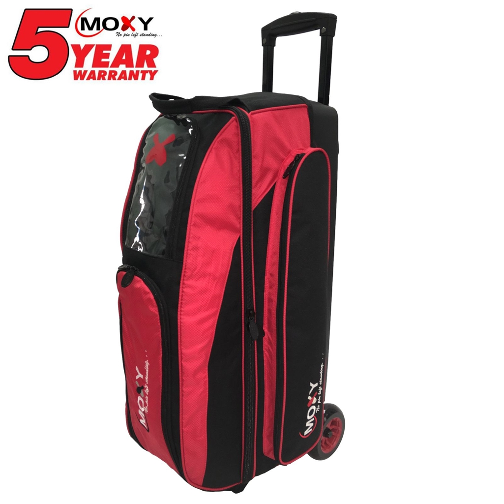 Moxy Blade Triple Roller Bowling Bag- Red/Black
