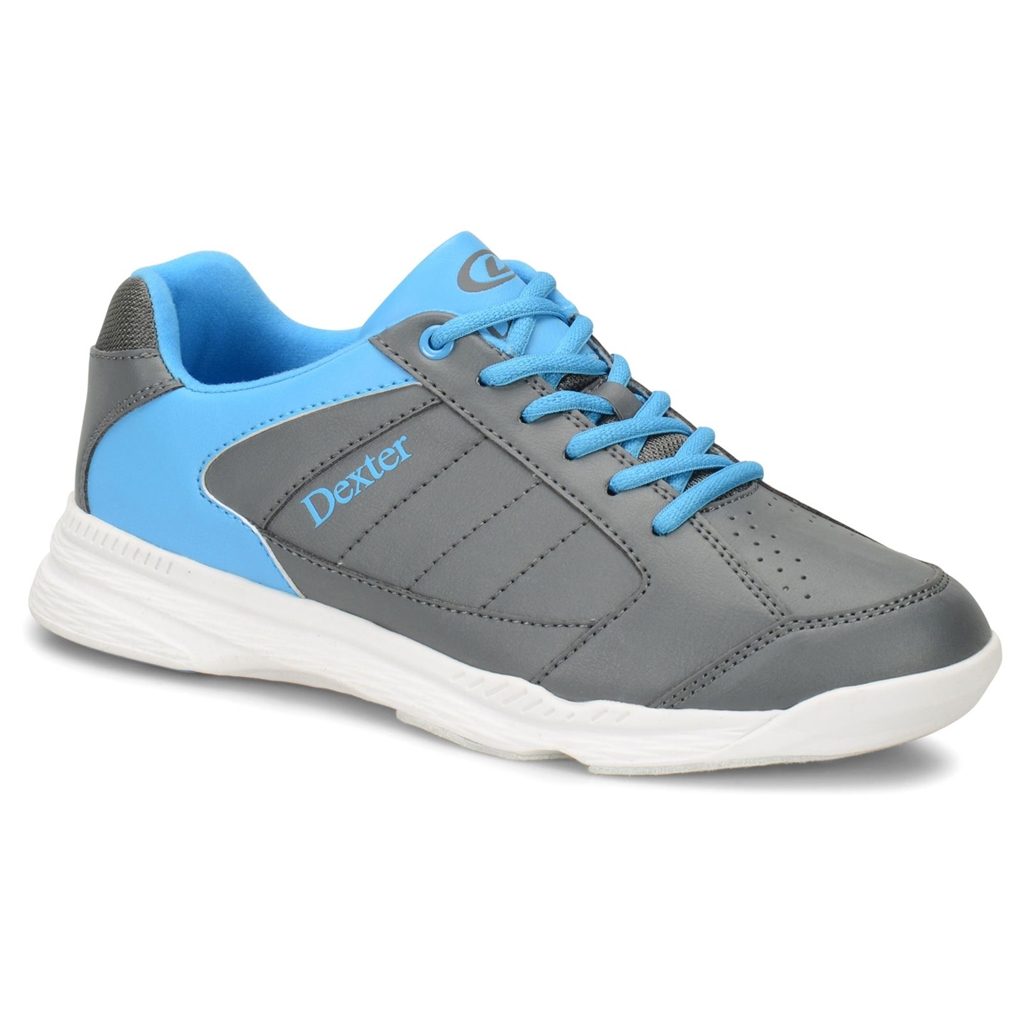 Dexter Boys Ricky IV Jr Bowling Shoes- Grey/Blue