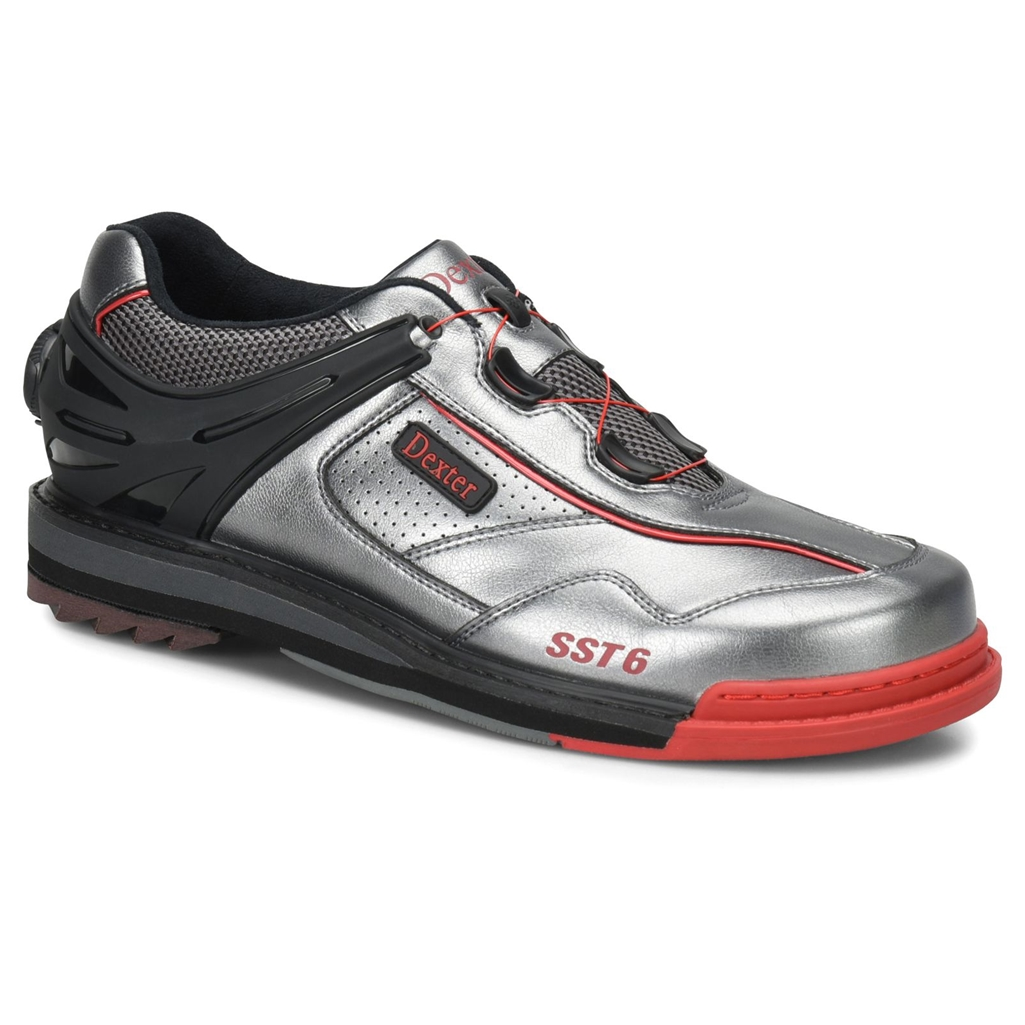 Dexter Mens SST 6 Hybrid BOA Bowling Shoes Right Hand- Grey/Black/Red