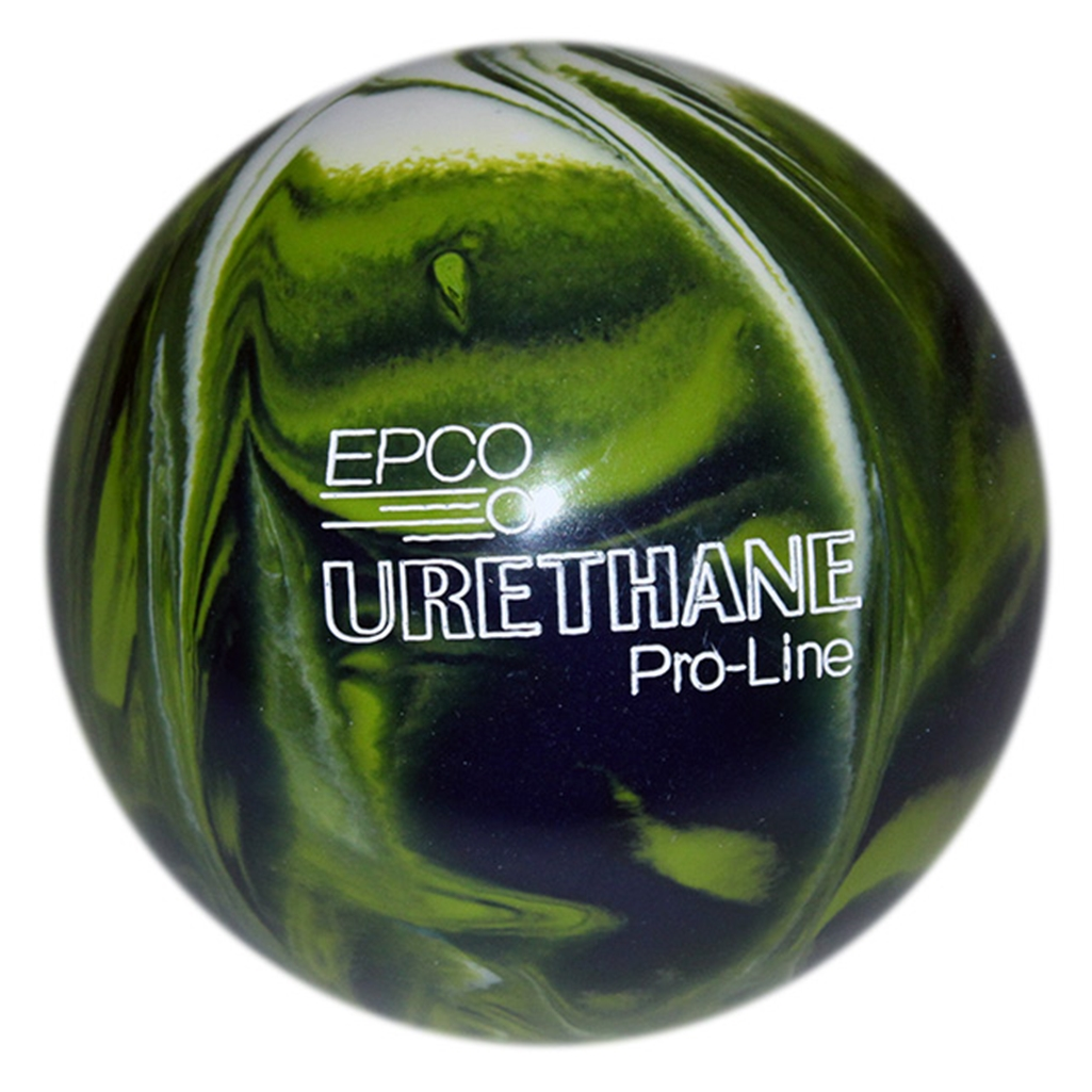"Candlepin EPCO Urethane Bowling Ball 4.5""- Lime Green/White/Navy"