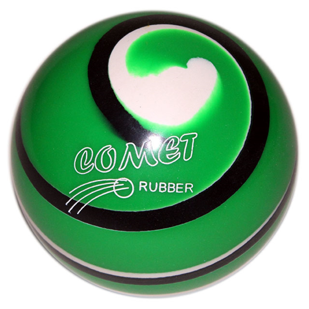 "Candlepin EPCO Urethane Commet Pro Rubber Bowling Ball 4.5""- Green/Black/White"