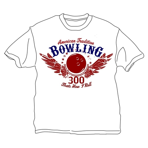 That's How I Roll Bowling T-Shirt- White
