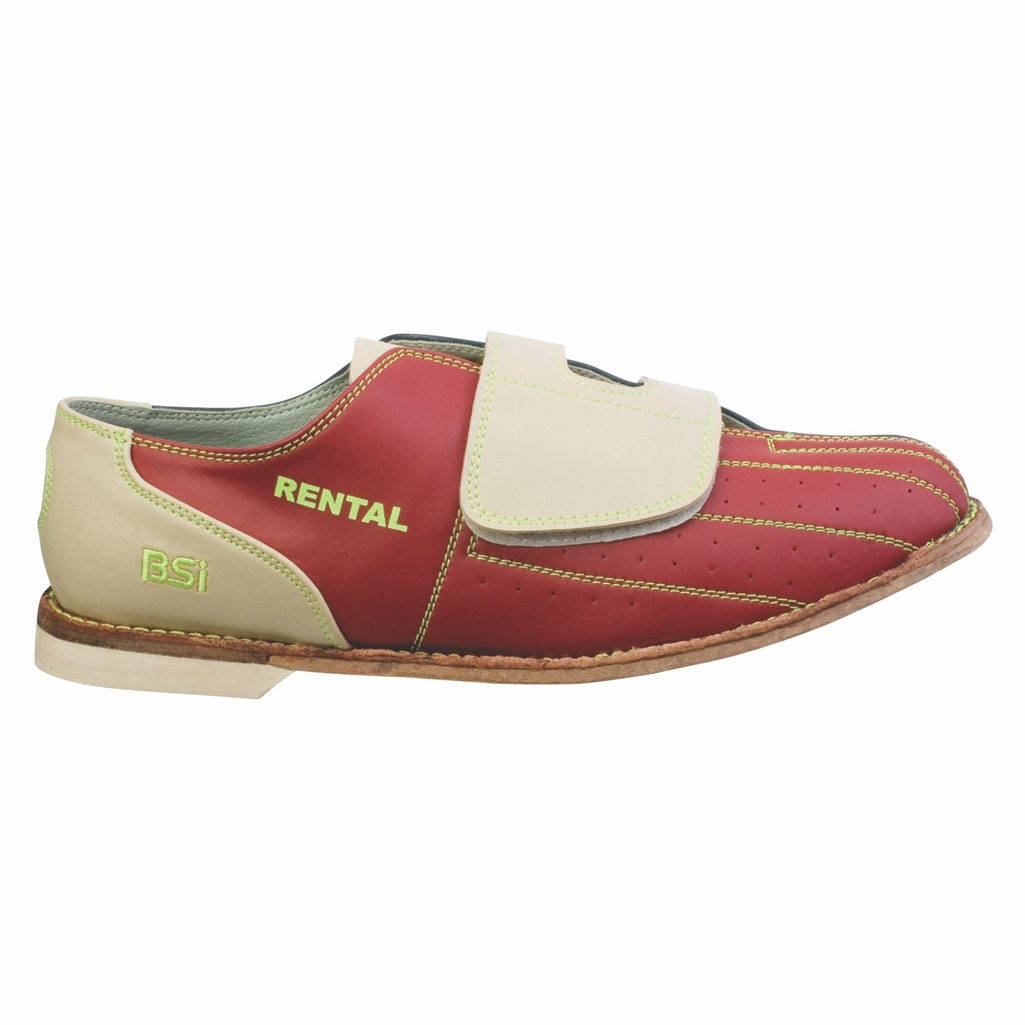 BSI Mens Leather Cosmic Rental Bowling Shoes- Velcro