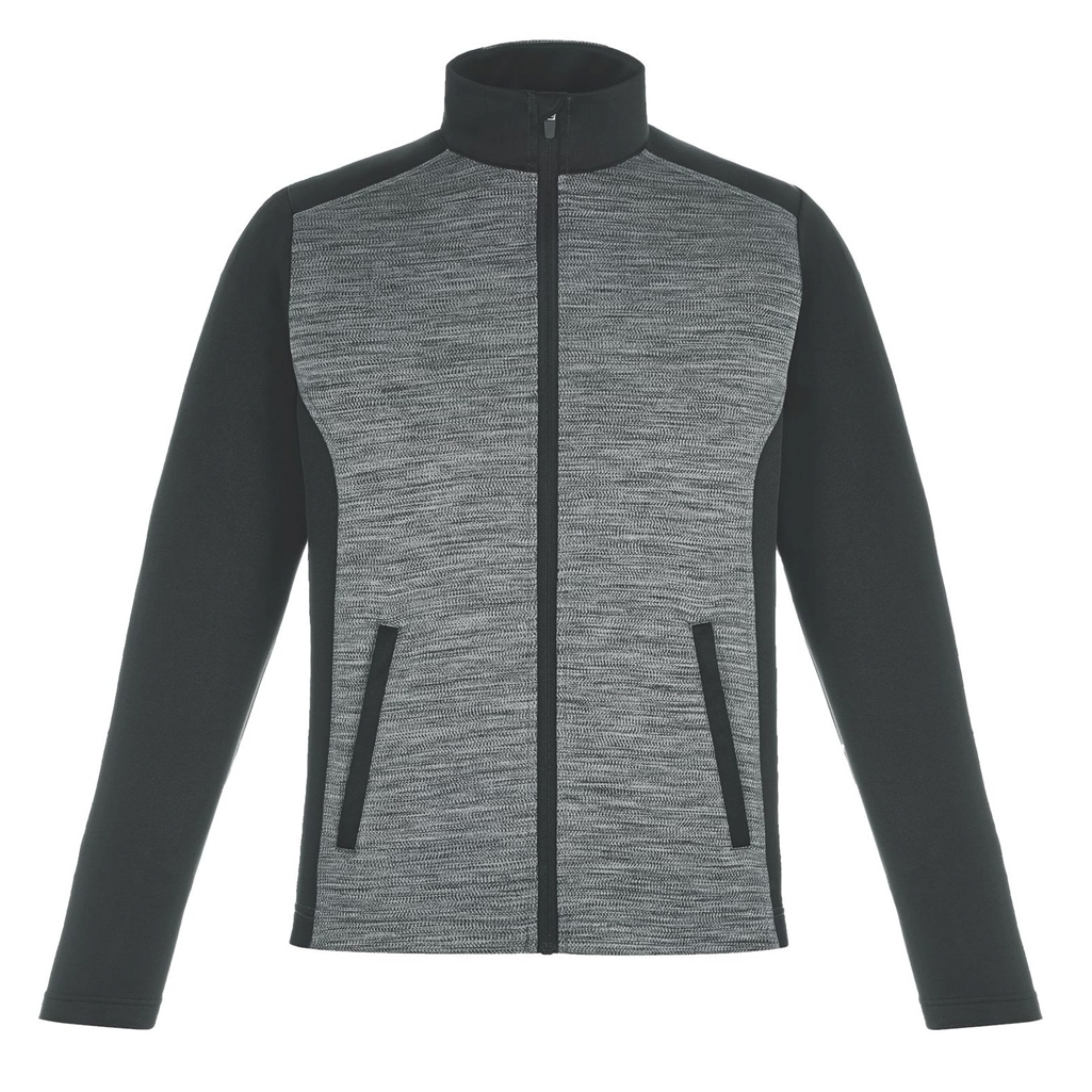 Ash City Mens Shuffle Performance Melange Interlock Jacket
