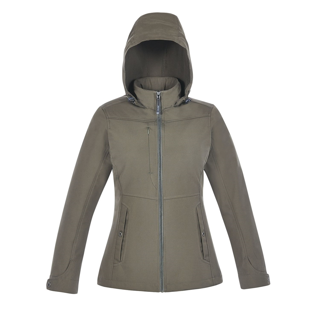 North End Forecast Ladies 3-Layer Bonded Travel Soft Shell Jacket